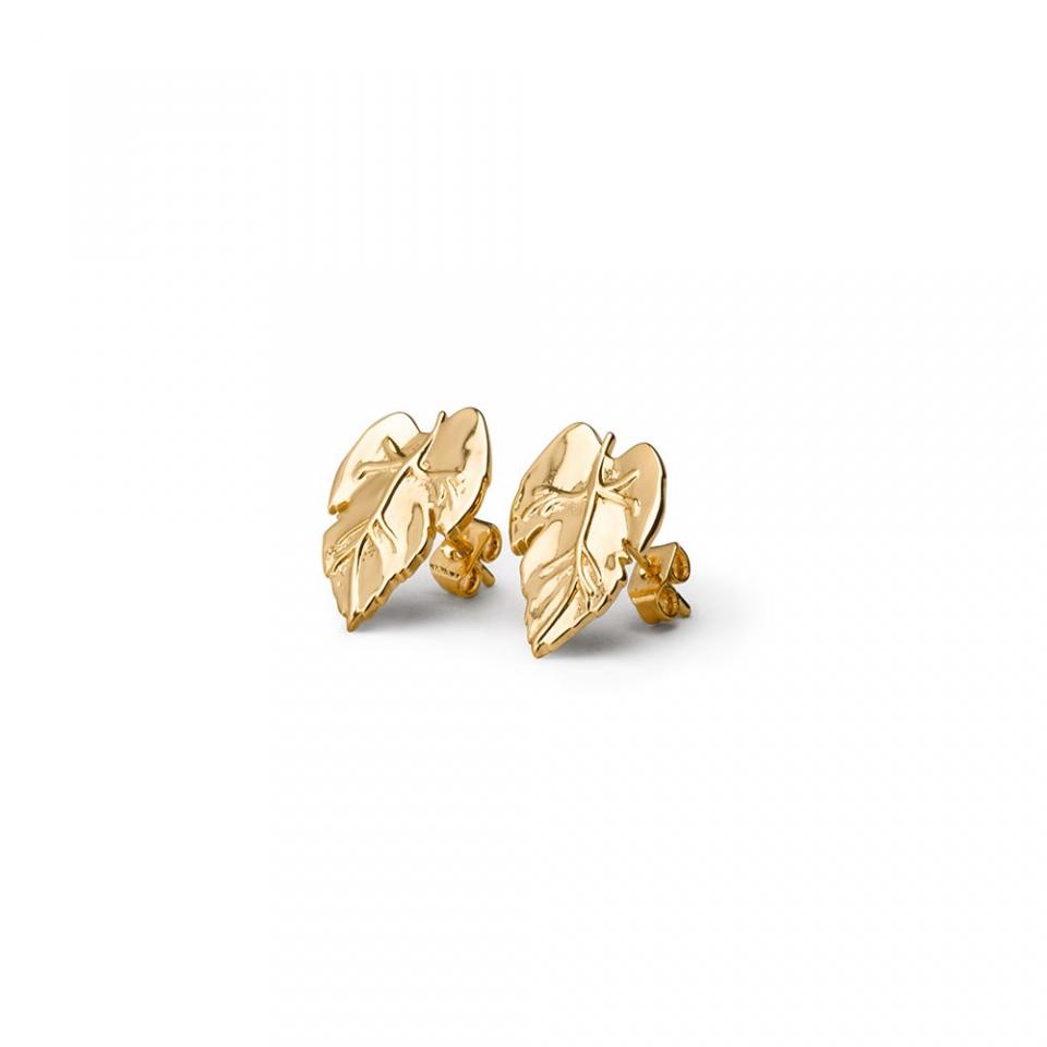Vine Leaf Stud Earrings