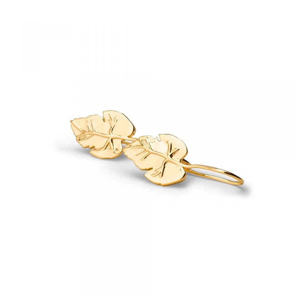Vine Leaf Pendant Earrings